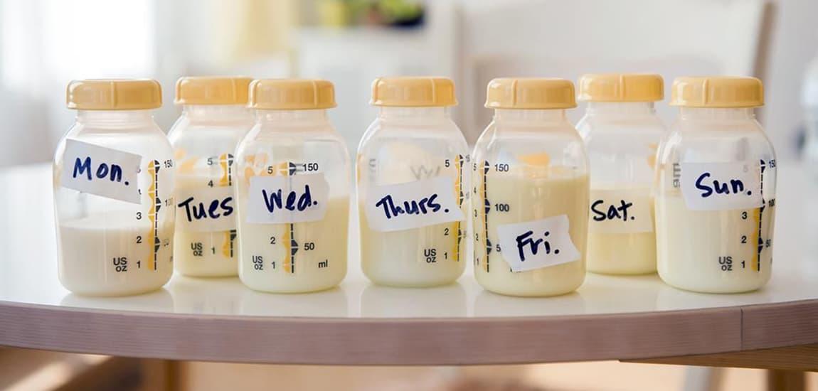 Higiene y envases para la leche materna